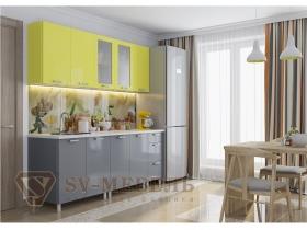 Кухня Модерн груша графит глянец
