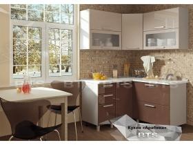 Кухня модульная угловая Арабика МДФ Глянец