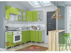 Кухня угловая Модерн олива
