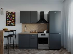 Кухонный гарнитур Антрацит 1000