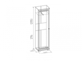 Модульная гостиная Бриз Шкаф для одежды и белья 11 560х2180х400