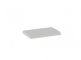 Мягкий элемент Фьюжн кожзам Белый ШхВхГ 540х50х355 мм