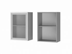 Шкаф 1-дверный со стеклом 5В2 ЛДСП ШхВхГ 500х720х310 мм