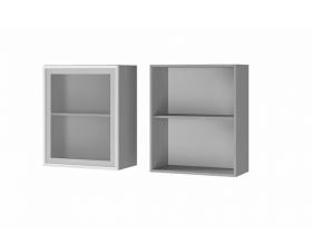 Шкаф 1-дверный со стеклом 6В2 ЛДСП ШхВхГ 600х720х310 мм