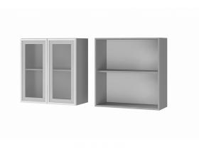 Шкаф 2-дверный со стеклом 7В2 ЛДСП ШхВхГ 700х720х310 мм