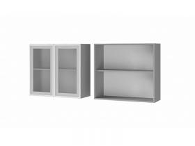 Шкаф 2-дверный со стеклом 8В2 ЛДСП ШхВхГ 800х720х310 мм