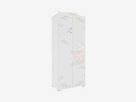 Шкаф 2-х дверный Сказка ПМ-332.22.02 исп.2 белый с фотопечатью