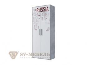 Шкаф 2-х створчатый комбинированный Грей ШхВхГ 900х2220х430 мм