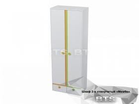 Шкаф 2-х створчатый Мамба ШК-15 ШхВхГ 802х2176х440 мм