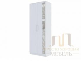Шкаф 2-х створчатый Николь-1 со стеклами ШхВхГ 800х2100х440 мм