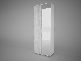 Шкаф 2-х створчатый с 2 зеркалами Соренто Белый-МДФ Рамбла ШхВхГ 800х2132х450 мм