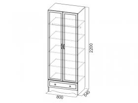 Шкаф 2-х створчатый с ящиком Акварель 1 СВ Море