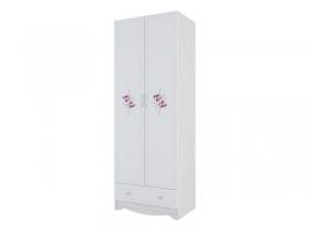 Шкаф 2-х створчатый с ящиком Акварель 1 СВ Цветы