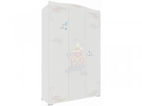 Шкаф 3-х дверный Сказка ПМ-332.25.02 белый с фотопечатью