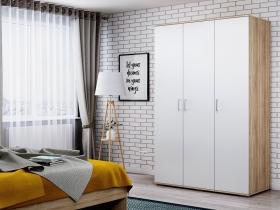 Шкаф 3-х створчатый Лайт ШР-3 Дуб Сонома-Белый