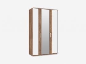 Шкаф 3-х створчатый с 1 зеркалом Джолин ПМ 245.02+245.01 Белый глянец