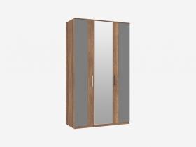 Шкаф 3-х створчатый с 1 зеркалом Джолин ПМ 245.02+245.01 Графит