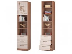 Шкаф для книг с 3-мя ящиками и дверкой 451х446х2136 Вояж