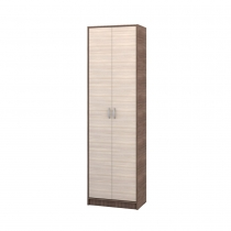 Шкаф для одежды Глория 138 Ясень шимо темный-Ясень шимо светлый ШхВхГ 602х2051х360 мм