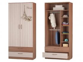 Шкаф для одежды с 2-мя ящиками 901х446х2136 Вояж