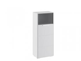 Шкаф комбинированный с 1 дверью Наоми Белый глянец ТД-208.07.28 ШхВхГ 544х1322х340 мм