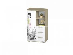 Шкаф многофункциональный Сенди для девочки ШК-10 ШхВхГ 802х1376х460 мм