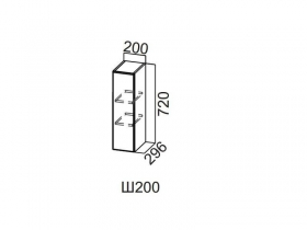 Шкаф навесной 200 Ш200 720х200х296мм Модерн