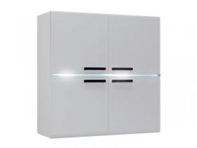 Шкаф навесной Квадро белый глянец ШхВхГ 900х914х356 мм
