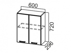 Шкаф навесной Ш600 Арабика СВ 600х720х296