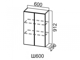 Шкаф навесной Ш600 Вектор СВ 600х912х296
