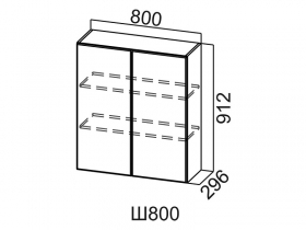 Шкаф навесной Ш800 Вектор СВ 800х912х296