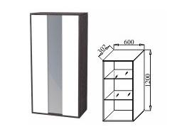Шкаф навесной со стеклом 600 К-04 Куб