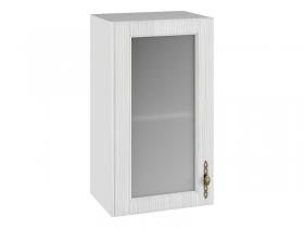 Шкаф навесной со стеклом ПС400 Империя МДФ сандал ШхВхГ 400х700х280 мм