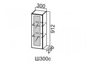 Шкаф навесной со стеклом Ш300с Вектор СВ 300х912х296