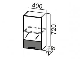 Шкаф навесной со стеклом Ш400с Арабика СВ 400х720х296