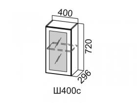 Шкаф навесной со стеклом Ш400с Вектор СВ 400х720х296
