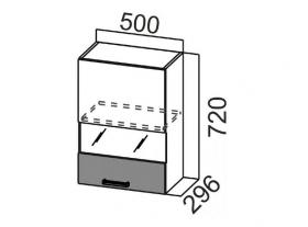 Шкаф навесной со стеклом Ш500с Арабика СВ 500х720х296