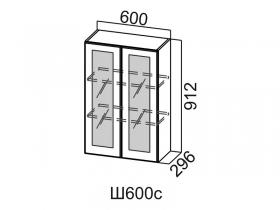 Шкаф навесной со стеклом Ш600с Вектор СВ 600х912х296