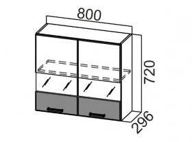 Шкаф навесной со стеклом Ш800с Арабика СВ 800х720х296