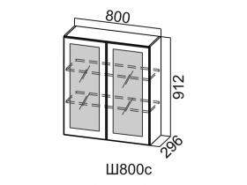 Шкаф навесной со стеклом Ш800с Вектор СВ 800х912х296