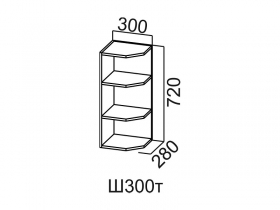 Шкаф навесной торцевой Ш300т Модус СВ 300х720х280