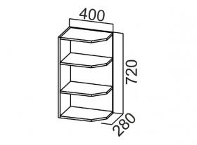 Шкаф навесной торцевой Ш400т Арабика СВ 400х720х280