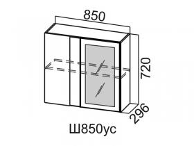 Шкаф навесной угловой со стеклом Ш850ус Вектор СВ 850х720х296