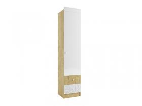 Шкаф Сканди ШД450.1 дуб бунратти-белый глянец