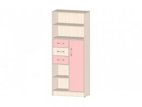 Шкаф-стеллаж Буратино Розовый