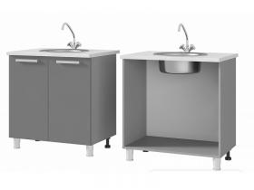Шкаф-стол под мойку 8М1 МДФ ШхВхГ 800х820х600 мм