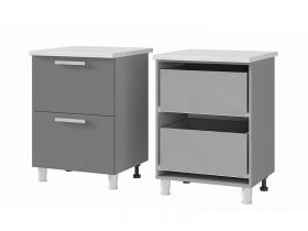 Шкаф-стол с 2 ящиками 6Р2 ЛДСП ШхВхГ 600х820х600 мм