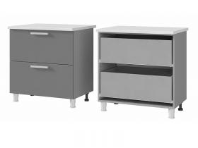 Шкаф-стол с 2 ящиками 8Р2 ЛДСП ШхВхГ 800х820х600 мм