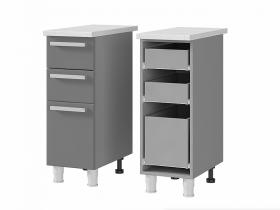 Шкаф-стол с 3 ящиками 3Р3 МДФ ШхВхГ 300х820х600 мм