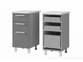 Шкаф-стол с 3 ящиками 4Р3 ЛДСП ШхВхГ 400х820х600 мм